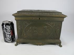 Antique Bronze Or Brass Jewelry Box
