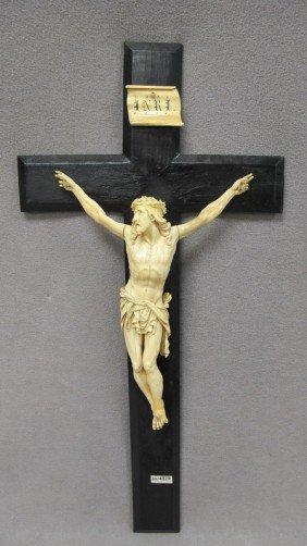 European Carved Ivory Jesus Christ