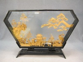 Chinese Carved Wood In A Box