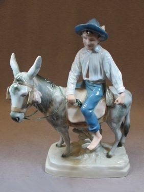 Royal Dux Porcelain Statue