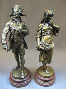 Emile Louis PICAULT (1833-1915) Pair Of Statues