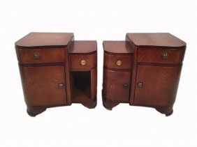 Art Deco French Pair Of Night Stands