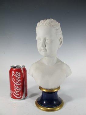 German Kpm Porcelain Child Bust, Marked
