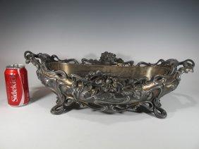 Art Nouveau Victor Saglier Silver-plated Centerpiece