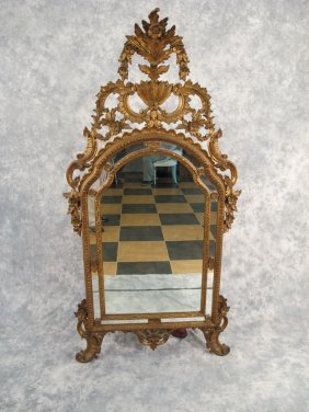 Antique French Louis Xv Gilded Mirror