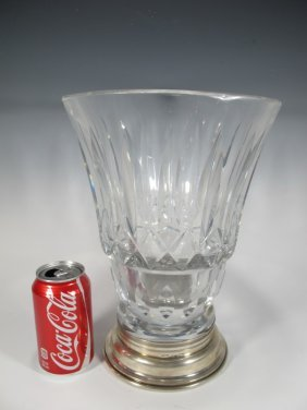 Antique Baccarat With A Portuguese Silver 916 Base