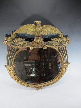 Antique American Gilt Carved Wood Mirror