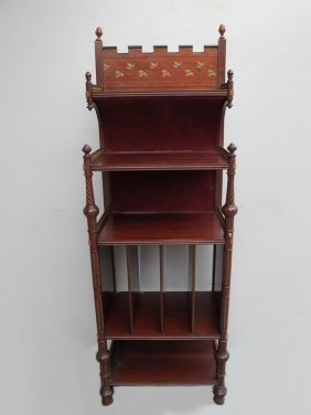 Antique English Mahogany & Bronze Cabinet