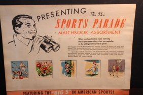 Old Sports Parade Matchbook Assortment No Date But Nice