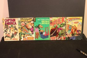 Nice Five Piece Lot Of Comic Books Four From 1970 Capt.