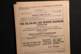 Rare Railroad Freight Tariff Rates 1951- 1957 Also