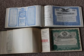 2 Stock Certificates Books - 1 Frank J Martin & Son