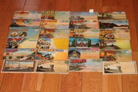 24 Old Postcard Folders - Approx 500 Views All Good