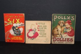 3 Nice Children's Books Polys Dollies - Pages Loose -