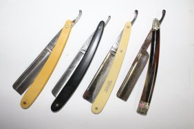 4 Vintage Straight Razors