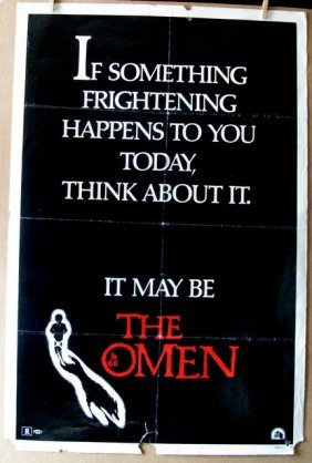 "The Omen - 1976 - Advance One Sheet Movie Poster - 27""x"