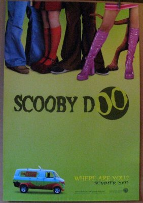 Scooby Doo - 2001 - Advance One Sheet Movie Poster -