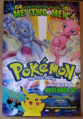 Pokemon The First Movie - 1999 - One Sheet Movie Poster