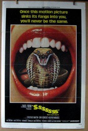 "Sssssss - 1973 - One Sheet Movie Poster - 27""x 41"" -"