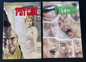 Alfred Hitchcock's Psycho - Comic Book Lot Of Two -