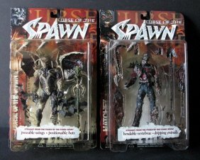 """Spawn - Lot Of Four - 7"""" Action Figures - Mcfarlane"""
