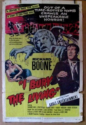 I Bury The Living - 1958 - One Sheet Movie Poster -