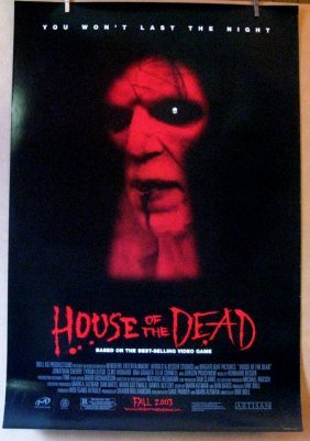 House Of The Dead - 2003 - One Sheet Movie Poster -
