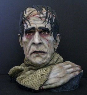 Frankenstein's Monster Pro Painted Resin Bust - Michael