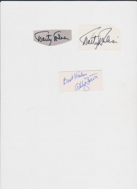 Marty Milner, 1931, 2 Autograph Signatures, American