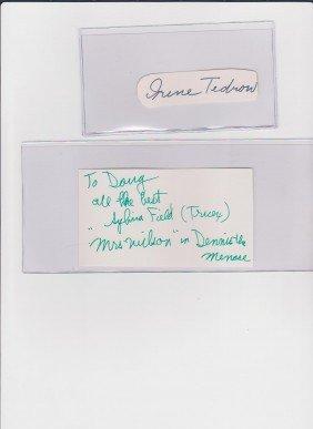 Sylvia Field 1901-1998, Autograph Signature, America