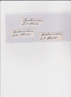 Edward Platt 1916-1974, 3 Autograph Signature, Amer