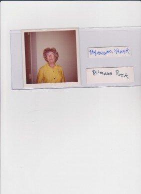 Blossom Rock 1895-1979, 2 Autograph Signatures & Ph