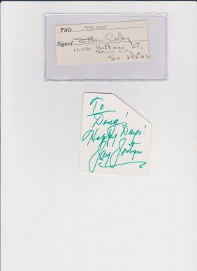 Ellen Corby 1911-1999, Signed Document, American Ac
