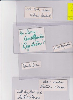 Collection Of American Character Actors Autograph S