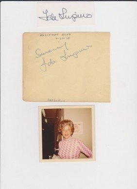 Ida Lupino 1819-1995 2 Autographn Signatures, Pictu