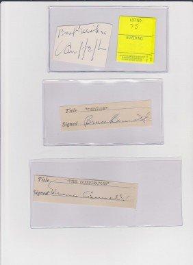 Van Heflin 1910-1971 Autograph Signature, Actor Of