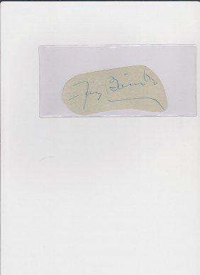 Fay Bainter 1893-1967, Autograph Signature, America