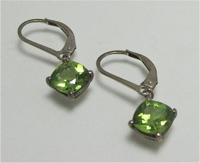 Stearling Silver And Peridot Earrings And Two (2) M