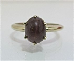 14K White Gold Tiger's Eye Ring