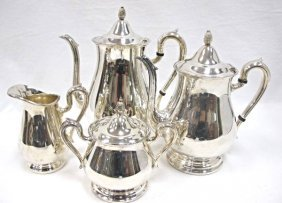 Silver Plated Reed & Barton 4 Piece Coffee/tea Service