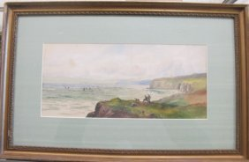 Early 20th Century Seascape By S. Hirst, Watercolor