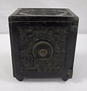 Antique Cast Iron Royal Safe Deposit Bank
