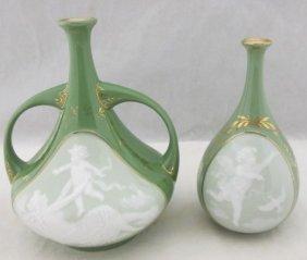 Pate-sur-pate Heubach Art Nouveau Porcelain Bud Vase 5