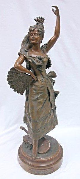 "Bronze Statue ""carmen"", 28 1/2"" Tall"