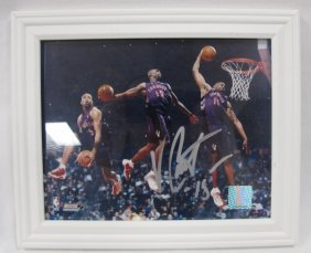 Vince Carter Autographed Photograph With Coa Framed