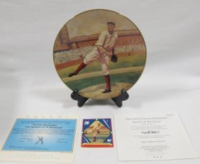Grover Cleveland Alexander Collector Plate In Original