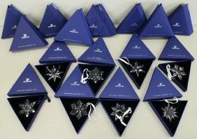 (8) Swarovski Holiday Ornaments