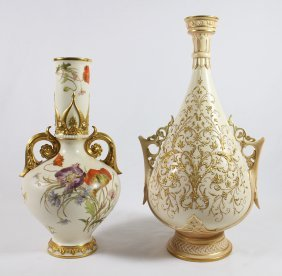 Pair Of 19th Century Royal Worcester Vases