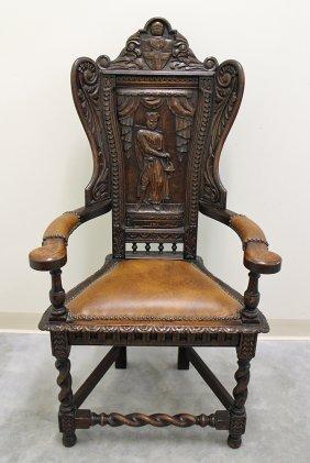 Jacobean Style King's Chair