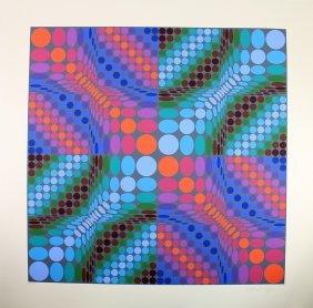 Victor Vasarely Silkscreen